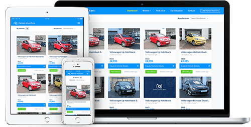 Pulman Used Cars Account Mockup